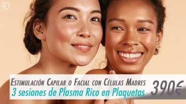 3 sesiones de Plasma Rico en Plaquetas