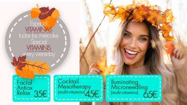 Special Vitamins every wednesday at Derma Clinic Spain