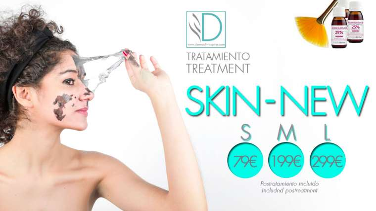 SKIN-NEW  an exlusive facial treatment at Derma Clinic Spain
